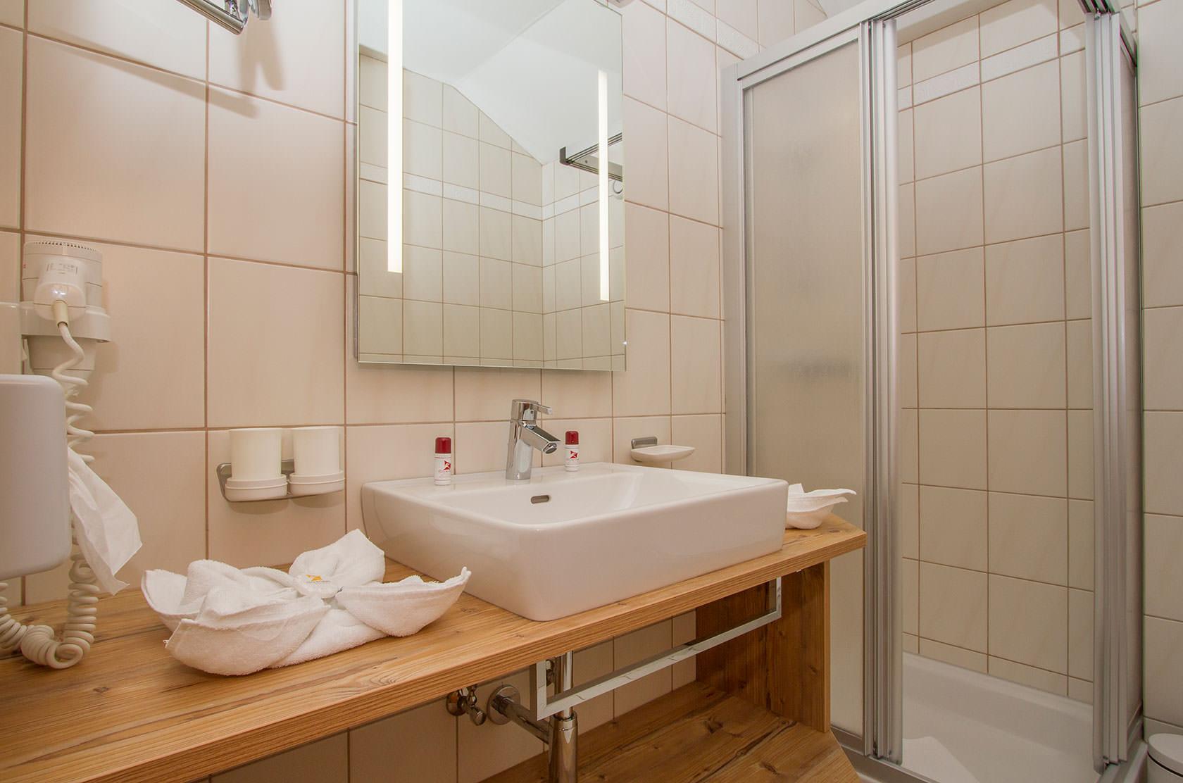 Ansicht eines Badezimmers im Hotel