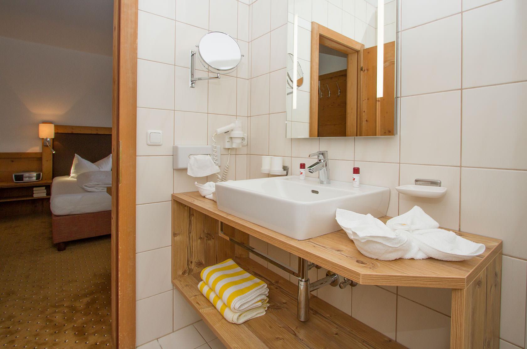 Badezimmer im Hotel Kristall