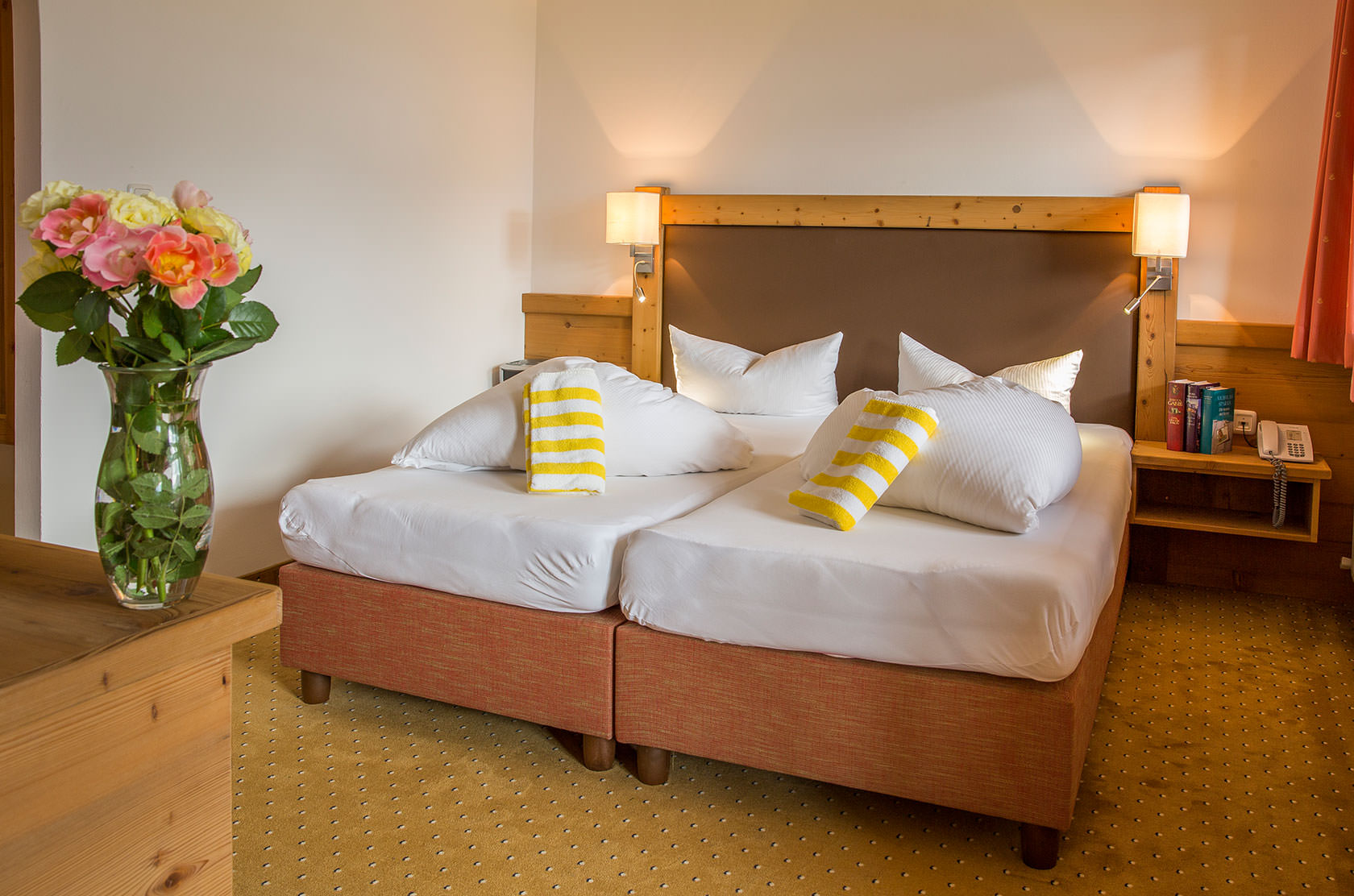 Double bed in the category spruce in the hotel Kristall
