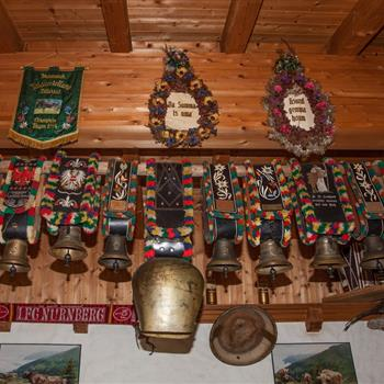 Cowbells at the alpine hut
