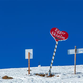 Signs in the skiing area